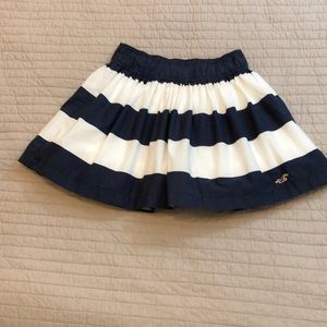 Striped layered casual skirt